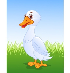 Duck cartoon vector image