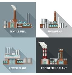 Factory Design Icons Set vector