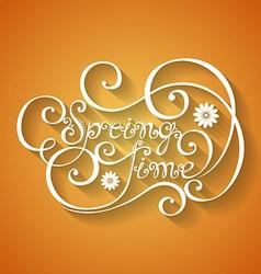 Fancy lettering design vector image
