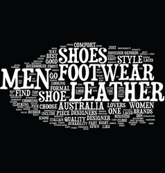 find men footwear at your comfort and style text vector image