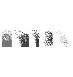 Flat rectangle disintegration abstract vector