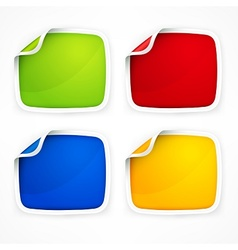Four colored stickers vector image