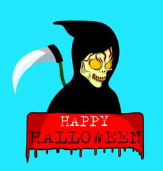 Ghost halloween sign vector