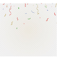 golden confetti isolated on cellular background vector image