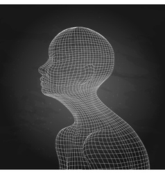 Graphic artificial intelligence vector image