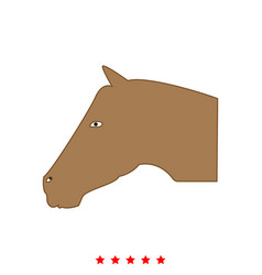horse head it is icon vector image