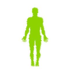 Human anatomy distorted vector