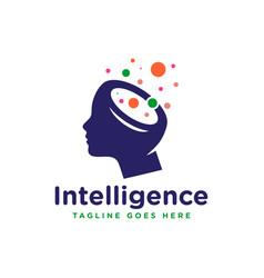 Human brain intelligence logo vector