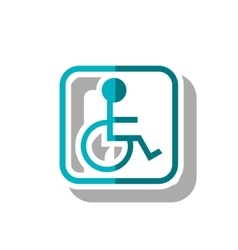Isolated wheelchair inside frame design vector