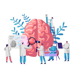 Laboratory scientist group study human brain vector