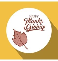 leaf thanks given design vector image