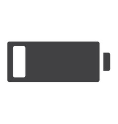 low battery glyph icon web and mobile energy vector image