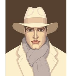Man in the hat vector