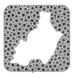 Map almeria province - coronavirus mosaic with vector