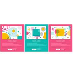 Modern design sites sample on vector