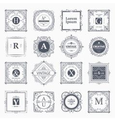 Monogram luxury template vector