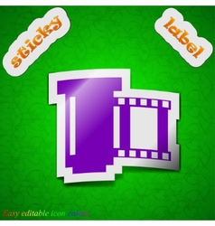 Negative films icon sign Symbol chic colored vector