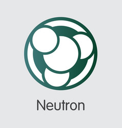 Neutron - blockchain cryptocurrency pictogram vector
