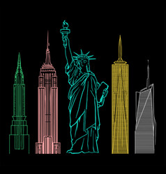 new york buildings vector image