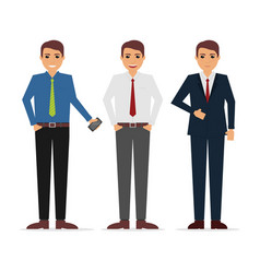 office businessman outfit character design vector image