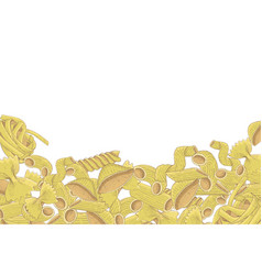 Pasta mix colored hand drawn sketch vector