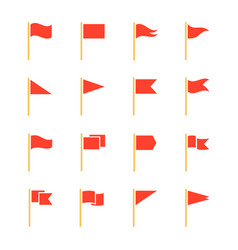 Pennants and flags set vector