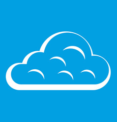 Rainy cloud icon white vector