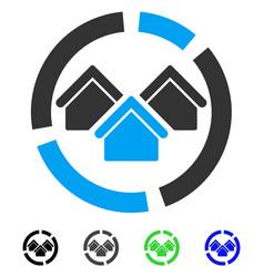 Realty diagram flat icon vector