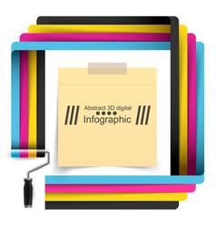 Roller paint template business idea vector