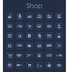Set shop simple icons vector