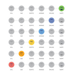 smile icons mood and satisfaction level vector image