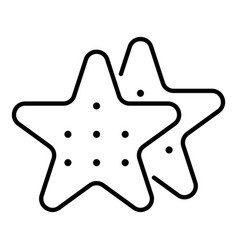star cookies icon outline style vector image