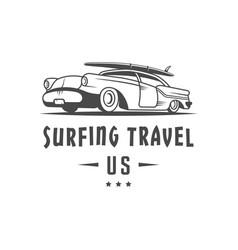 Surfing travel logotype vector