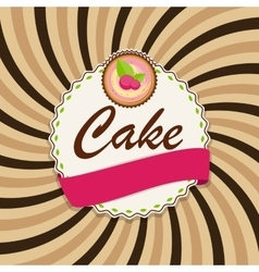 Sweet Cake with Berry Menu Background vector image