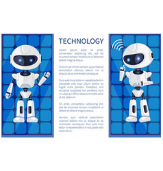 technology and robot poster vector image
