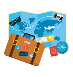 Travel luggage cartoon vector