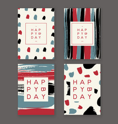 Trendy birthday cards vector