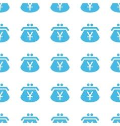 Unique Yen purse seamless pattern vector image