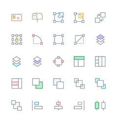 User Interface Colored Line Icons 21 vector image