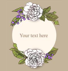vintage background victorian hand drawn rose vector image