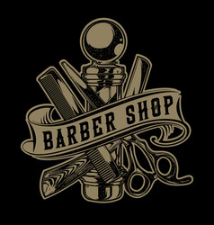 Vintage barber sho hair salon hair stylist vector