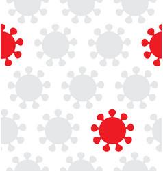 virus seamless pattern danger concept vector image