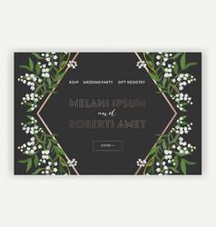 Wedding salon internet shop floral landing page vector