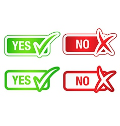 YES NO Checmarks Buttons vector