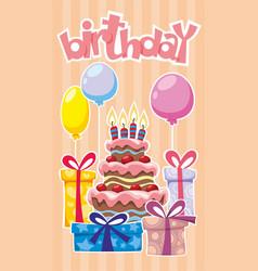 Festive birthday template vector