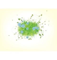 Green spring summer grass vector image