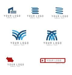 Print logo set vector image vector image