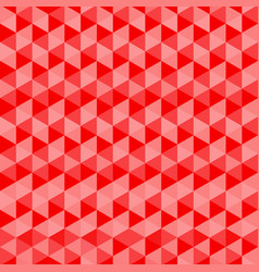 red triangles seamless background abstract pattern vector image