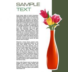 vase brochure vector image vector image