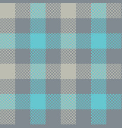 blue gray check plaid seamless pattern vector image vector image